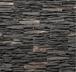 Dark Grey Natural Stone - Stacked Stone Panels, Split Face Stone Panels,