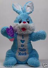 "Dan Dee 21 inch Blue Bunny with ""I Love You U This Much"" NEW"