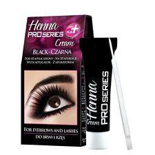 Verona Henna Cream Black Brown Eyebrow and Lashes 10 Applications Kit Tint