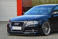 For Audi A3 8P Front Bumper Lip Cup Skirt Lower spoiler Chin Valance Splitter