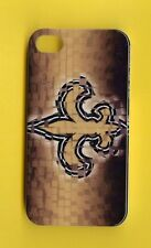 NEW ORLEANS SAINTS 1 Piece Glossy Case / Cover iPhone 4 / 4S (Design 14)+ Stylus