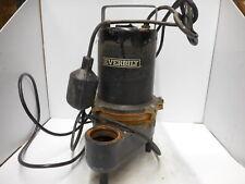 Everbilt 6/10 HP Heavy Duty Cast Iron Sewage Sump Pump 1000026319