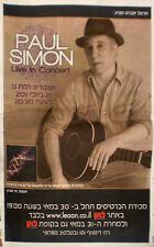 PAUL SIMON Live In Concert ISRAEL ISRAELI MINI POSTER 2011