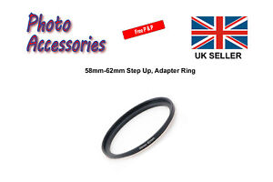 58mm-62mm Step Up Stepping Up Filter Ring Adapter