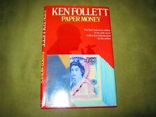 Ken Follett - Paper Money - Unmarked Hardcover w Jacket - VG/GD+ - Book Club