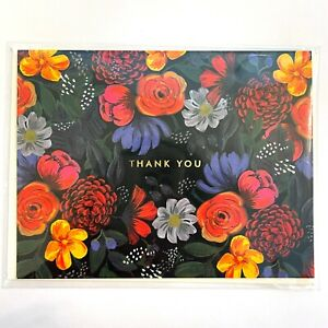 """RIFLE PAPER CO. Thank You Greeting Card & Envelope - """"ODETTE"""" w Foil (A2)"""