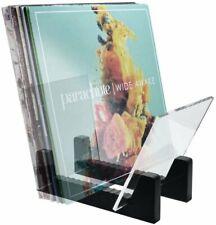 Hudson Hi-Fi Desktop Vinyl Record Storage Album Display Holder - 25LP Black Pine