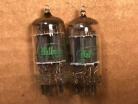 Matched Pair 1962 Sylvania 12AX7 Tubes Long Plate Super Strong Balanced A