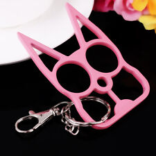 Pink Metal Cat Key Chain Personal Protection Self-defense Keychain Key ring