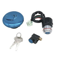 Ignition Switch Fuel Gas Cap Cover Steering Lock Key Set For Suzuki GN125 82CRI