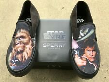 Men's Sperry Top Sider STAR WARS Han Solo Chewbacca slip-on Boat Shoes Size 10