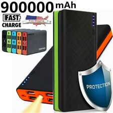 900000mAh 4USB Backup External Battery Power Bank Pack Charger for Phone LED NEW