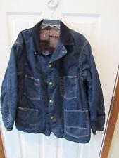 Vintage Oshkosh B Gosh Work Denim Coat Jacket USA Made Blanket Lined men's sz XL
