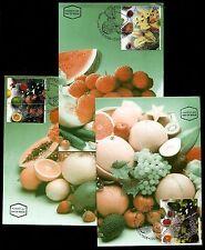 Israel, 1280-1282, Maxi cards, Fruits, 1996