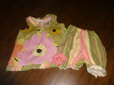 BOUTIQUE TRISH SCULLY 18M 18 MONTHS FLORAL DRESS BLOOMER SET