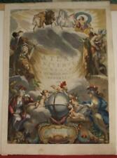 ATLAS UNIVERSEL 1784 SANTINI & REMONDINI ANTIQUE COPPER ENGRAVED TITLE PAGE