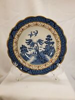 Blue Willow Saucer Real Old Willow w/Gold Trim Vintage