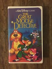 Rare Walt Disney Black Diamond Classic The Great Mouse Detective VHS 1360 Tested