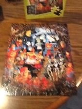 Master Pieces Monsters Night Out 100 Piece Jigsaw Puzzle 100% Complete a4