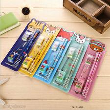 5 pcs New Arrival Stationary Set Pencil Sharpener Eraser Ruler 1 Set Office x