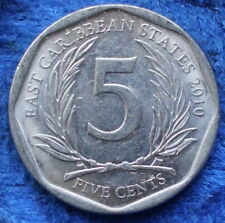 EAST CARIBBEAN STATES - 5 cents 2010 KM# 36 Elizabeth II - Edelweiss Coins