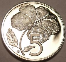 Cook Islands 5 Cents, 1981 Proof~9,205 Minted~Wedding Of Lady Di~Hibiscus~Fr/Shi