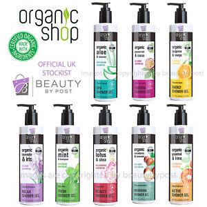 Organic Shop shower gel 98% Natural Vegan Aloe Macadamia Mango Lime 280ml