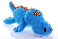 goDog Gators With Chew Guard Technology Tough Plush Dog Toy Blue Large