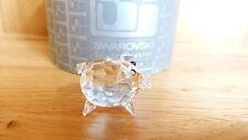 Swarovski Silver Crystal - Mini Pig v.3 chaton tail - #010028 - Boxed