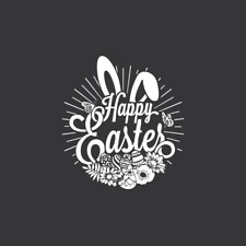 Happy Easter Bunny Ears Window Cling - Easter window decoration