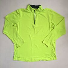 Russell Athletic Yellow Reflective Running/Fitness Dri Fit Top - Size Medium