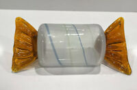 LARGE Vintage Murano Art Glass CANDY Piece - Amber twist - WOW