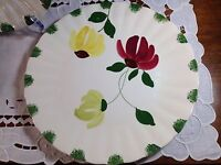 VINTAGE BLUE RIDGE POTTERY/SOUTHERN POTTERIES Floral- Hand Painted Dinner Plate
