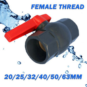 PVC U Compact Ball Valve Threaded Connection 20mm 25mm 32mm 40mm 50mm 63mm