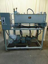 Industrial Test Table Hydura Hydraulic Unit 50 HP Electric Motor Dual Gear Pump