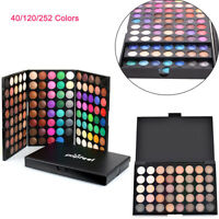 40/120/252 Colors Professional Makeup Eyeshadow Palette Shimmer Matte Highlight