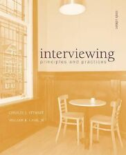 Interviewing: Principles and Practices Stewart Cash Job Search Advice Career