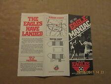 ASL New York Eagles Vintage Defunct Circa 1979 Soccer Season Ticket Brochure