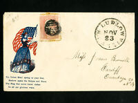 US Stamps VF Patriotic multi-colored cover