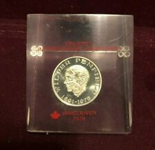 Vintage International Epilepsy Symposium Vancouver 1978 Lucite Paperweight NM