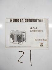 Kubota A1400-3-120-Y A2100-3-120-Y Generator Instruction Manual