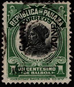 Canal Zone - 1918 - 1 Cent Dark Green & Black Balboa w Type IV Overprint 52 F-VF