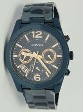 Authentic Original Fossil ES4093 Perfect Boyfriend Navy Blue Dial Ladies Watch