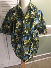 Utopia Mens Shirt Size M Club Shirt Las Vegas Pattern Short Sleeve