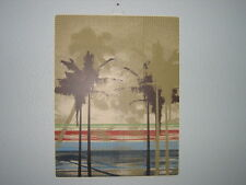 NWT PALM TREE Beach Metal Wall Sign Art Decor Picture Tropical Vintage NEW Tin