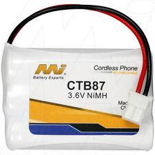 CTB87 3.6V 730mAh NiMH Cordless Phone Battery