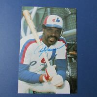 ANDRE DAWSON  1984 Montreal Expos  team  postcard  SIGNED  AUTO  Chicago Cubs