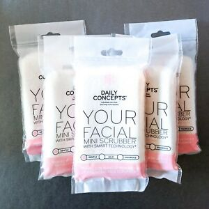 5x DAILY CONCEPTS Your Facial Mini Scrubber | Gentle Dual-Textured