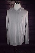 Lacoste Men's Grey Hoodie Hooded Pullover Sweatshirt, 3XL, NWT, 3XL MSRP $89.50