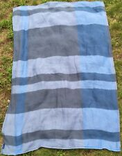 """vintage UNITED AIRLINES blanket blue gray multi color travel throw 90s 40""""x61"""""""